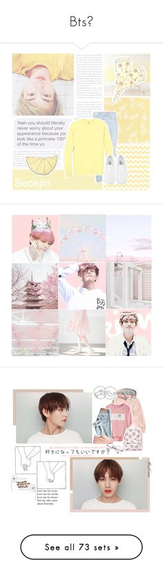 """Bts"" by amarygeorge-1 ❤ liked on Polyvore featuring art, yellow, kpop, bts, jin, SeokJin, Giuseppe Zanotti, EXO, bangtan and GOT7"