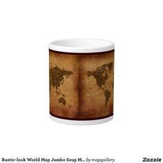Beautiful world map educational gift travel mug world dr oz rustic look world map jumbo extra large soup mug sciox Image collections