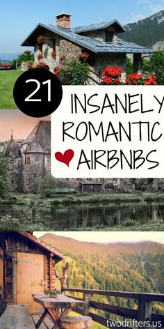 We've researched thoroughly to bring you 21 of the most insanely romantic Airbnbs across the globe. Perfect for a honeymoon or a romantic getaway for two. Honeymoon 21 Insanely Romantic Airbnbs Around the World Romantic Destinations, Romantic Vacations, Romantic Travel, Dream Vacations, Travel Destinations, Romantic Weekend Getaways, Romantic Places, Cheap Romantic Getaways, Best Cheap Vacations