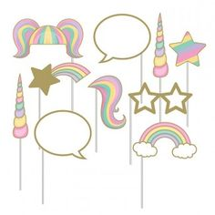 Girl Party Supplies, Unicorn Party Photo Props, Decorations