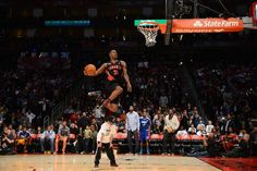 HOUSTON, TX - FEBRUARY 16: Terrence Ross #31 of the Toronto Raptors attempts a dunk during the Sprite Slam Dunk Contest on State Farm All-Star Saturday Night during NBA All Star Weekend on February 16, 2013 at the Toyota Center in Houston, Texas.