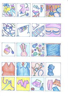 "Schetsen eerste 20 icoon ideeën ""fashion/beauty"""