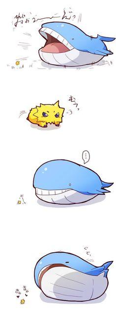 azuma_minatsu highres joltik nintendo no_humans pokemon size_difference sleeping wailord Pokemon Comics, Pokemon Memes, Pokemon Fan Art, Pokemon Stuff, Pokemon Pokemon, Kawaii Doodles, Nintendo Characters, Vanellope, Cute Comics