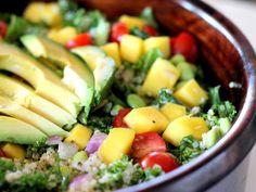 Kale, Edamame, and Quinoa Salad with Lemon Vinigarette