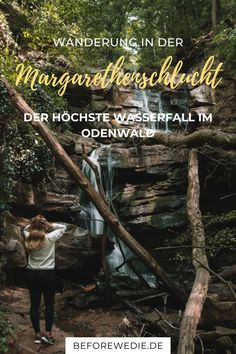 Wandern in Deutschland im Odenwald: Die Margarethenschlucht ist der höchste Wasserfall des Odenwalds. Die Wanderung durch die Schlucht eignet sich prima für einen Kurztrip und ist ein tolles Erlebnis für die ganze Familie <3 Erfahre hier alles, was du vorab wissen musst!