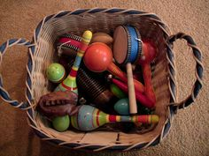 Always have some type of musical instruments around for children to explore.
