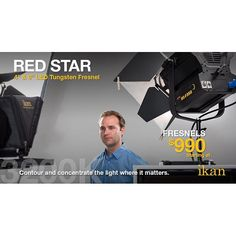 The red star family of LED Fresnels from Ikan is sure to make a great addition to any film set with their robust features and cutting edge technology. Check them out on www.ikancorp.com ⭐️⭐️⭐️ #lighting #lights #ikan #filmmaking #ikancorp #setlife #filmli