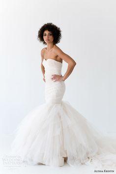 alyssa kristin bridal 2014 alessandra strapless wedding dress