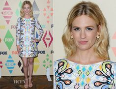 January Jones In Peter Pilotto – 2015 Summer TCA Tour FOX All-Star Party
