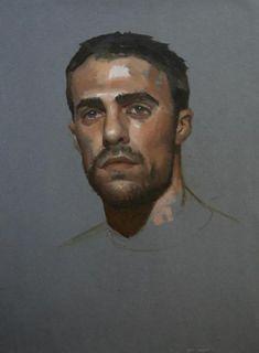 """enchantemoimerlin: """" Gregory Mortenson Oil on Prepared Paper """" L'art Du Portrait, Portrait Sketches, Portraits, Portrait Paintings, Oil Paintings, Guy Drawing, Painting & Drawing, Portrait Inspiration, Painting Inspiration"""