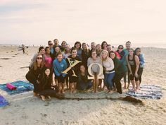 Yoga on the beach // Cal Poly SLO, Chi Omega
