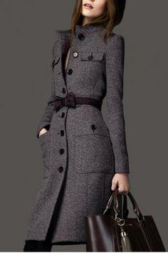Long section cashmere woolen coat