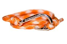 Our rope bracelets make wonderful gifts! And they're only $18! #RopeBracelets #PrepStyle https://www.southernlure.com/collections/ladies-rope-bracelet/products/orange-white-rope-bracelet?variant=854203223