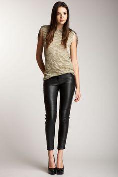 HauteLook $79 - Leather Skinnies