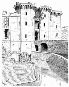 Raglan Castle Adult Realistic Coloring Pages