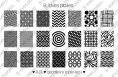 B.01  geometry is perfect by BlovesPlates on Etsy