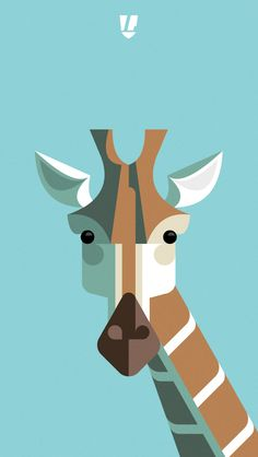 "Mais coisas lindas do Josh Brill of ""Lumadessa"" - mobile phone wallpaper Giraffe style!"