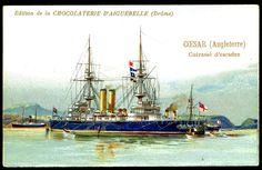 "https://flic.kr/p/8Vjxwz | French Tradecard - British Battleship, HMS Caesar | Chocolat D'Aiguebelle ""Warships"" c1900…"