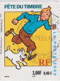 France Stamp / Tintin et Milu