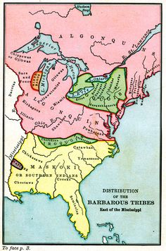 """Literally proving that the indigenous Americans were Barbers"" - [Distribution of the Barbarous Tribes East of the Mississippi] Native American Map, American Indian Art, Woodland Indians, Old Maps, Historical Maps, History Books, Nativity, Black Indians, Iroquois"