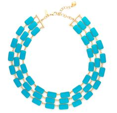 Isn't it lovey? It's the Park Guell 3 Row Bib Necklace from Kate Spade NY. Enjoy more fab fashion finds by clicking the photo.  CottonCandyMag.com