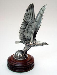 1925 Brau Deco Eagle Car Mascot, Hood Ornament