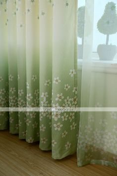 Home & Garden Aspiring Napearl Spring Green Floral Design Drops Tulle Curtains Valance Roman Short Curtains Bedroom Kitchen Windows Fabric Rustic Decor Curtains