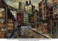 david burliuk - washington market tribeca - 1931