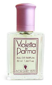 Violetta di Parma by Borsari is a powdery, woody Floral fragrance featuring iris, musk, violet, vanilla, jasmine, hyacinth, vetiver, heliotrope, lily-of-the-valley, rose, lily and cedar. - Fragrantica