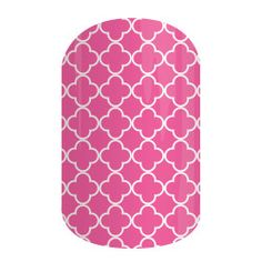 Rosy Quatrefoil | Jamberry Nails