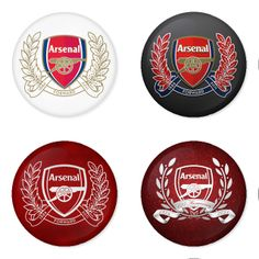 "ARSENAL Football Club 1.75"" Badges Pinbacks, Mirror, Magnet, Bottle Opener Keychain http://www.amazon.com/gp/product/B00EY4ZR60"