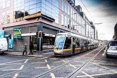 Luas Tram On Abbey Street - Dublin (Ireland)