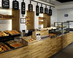 Pretty Bakery Interior Design Ideas With Small Minimalist Design Bakery And Hanging Pendant Lighting Ideas