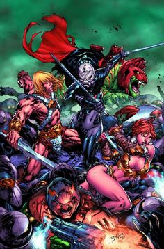 He-Man and the Masters of the Universe issue no. 1 written by Keith Giffen with art by Pop Mhan (& cover art by Ed Benes). This is the first exciting issue of the new, ongoing adventures of He-Man and the Masters of the Universe! While the Masters of the Universe mourn the loss of a fallen friend, Hordak infiltrates Eternia! Featuring the return of She-Ra! Now known as Despara, the most lethal weapon in Hordak's army, she returns to Eternia as He-Man's newest enemy! #MOTU