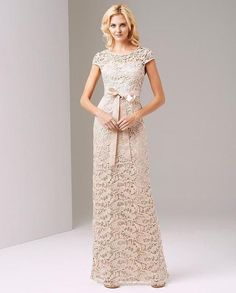 Adrianna Papell Bateau Neckline Lace Evening Dress 81883990