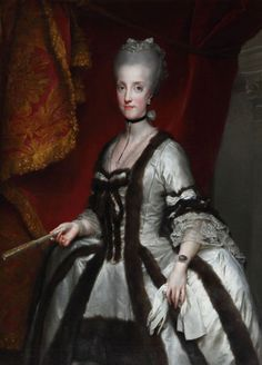 1772-1773 Anton Raphael Mengs - Archduchess Maria Karolina of Austria, Queen of Naples