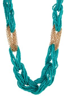 Beaded Loop Chain Link Necklace