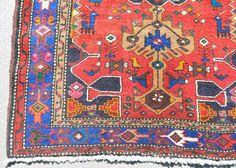 Reds Meshkin Tribal Rug Persian 3