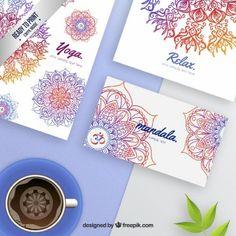 Colorful mandala stationery