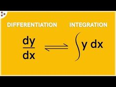 The process of differentation and integration are the two sides of the same coin. There is a fundamental relation between differentation and integration. Teaching Aids, Teaching Math, Electronic Engineering, Chemical Engineering, Electrical Engineering, Differentiation And Integration, Things To Know, How To Memorize Things, Calculus