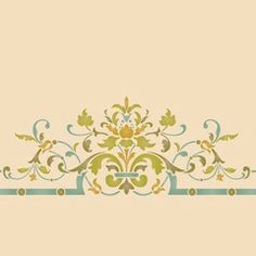Our Victorian Ceiling Center Stencils adds a traditional design to light fixtures or complements a European style living room, dining room, or entry. You can also paint your ceiling with these other c