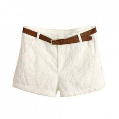 <3  $14.46 Embroidery and Pockets Embellished Stylish Solid Color Cotton Shorts For Women