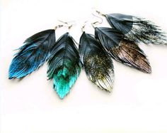 Gorgeous statement earrings, the Feathers hand cut from faux leather material in white. I have created these with intricate hand cuts to move and feel similar to a feather, but much are more sturdy. Will look great with hair up or down. Attached to silver plated hook and findings. Feather length measures around 5 inches. FREE SHIPPING US & Canada  LIKE on Facebook: www.facebook.com/Lovesexton