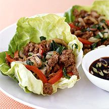 Weekly Meals 1/22-28  Weight Watchers Moo Shu Beef Lettuce Cups mmmm 5 pts for 2 I like to pair it with Hot n Sour Soup for an extra 2 points per cup!