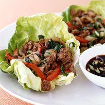 WW Moo Shu Beef Lettuce Cups:  4 servings; 5 points+ per serving