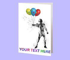Stormtrooper Star Wars Card Happy Birthday Card by RosalisArt Star Wars Invitations, Invitation Cards, Happy Birthday Cards, Greeting Cards, Stars, Handmade Gifts, Etsy, Happy Birthday Greeting Cards, Kid Craft Gifts
