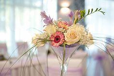 Fialová svadobná výzdoba /Light purple wedding decoration