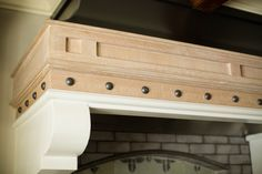 Its all in the details! We love how the black metal hood and rivets complement the hand crafted rustic white oak trim. Rustic White, White Oak, Modern Rustic, Modern Farmhouse, Oak Trim, Modern Craftsman, Kitchen Gallery, Stained Concrete, Dream Closets