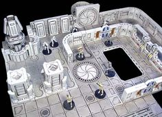 Hirst+Arts+Terrain | The Sci-fi molds would make for an awesome Space Crusade set-up