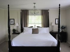 10 Vibrant Tips AND Tricks: Spare Bedroom Remodel Accent Walls teenage bedroom remodel black white.Bedroom Remodel Teenage remodel bedroom into closet.Guest Bedroom Remodel Built Ins. Bedroom Blinds, Bedroom Windows, Home Bedroom, Blinds Curtains, Curtains Behind Bed, Blackout Curtains, Modern Bedroom, Girls Bedroom, Master Bedroom Makeover